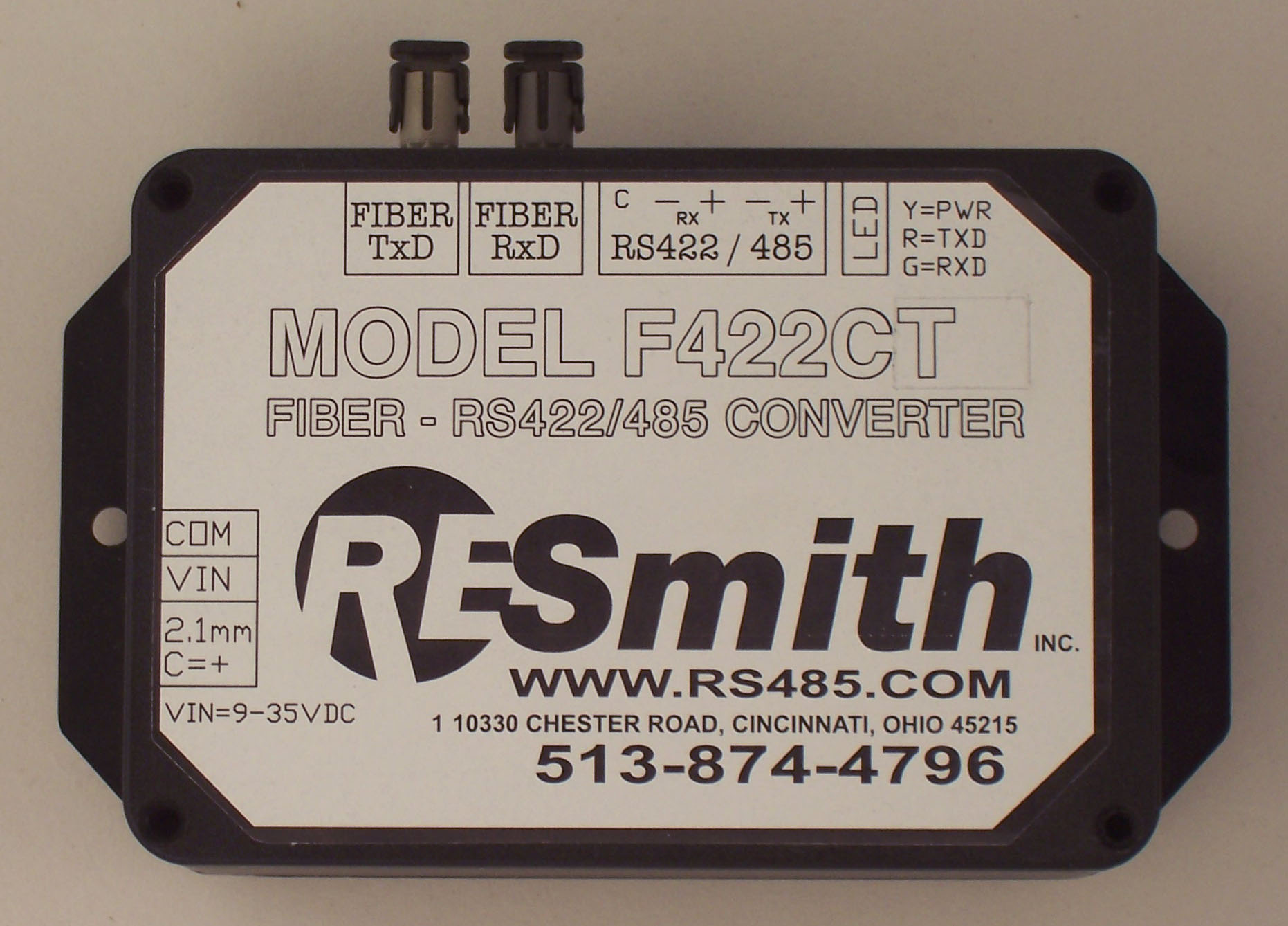 F422CT Label