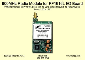 900MHz Radio Module for PF1616L I/O Board
